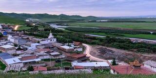 Висок Suokezhang на зоре Стоковое фото RF