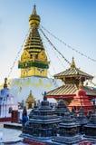 висок swayambhunath kathmandu Стоковое Изображение