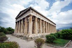 Висок Teseo в старой агоре athene Греция Стоковая Фотография