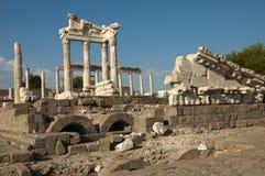 Висок Trajan на Pergamos Стоковое фото RF