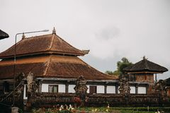 Висок Ulun Danu Bratan Pura Ulu Danau bali Индонесия стоковое фото rf