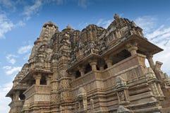 Висок Vishvanatha, Khajuraho, Индия - место всемирного наследия ЮНЕСКО. стоковое изображение