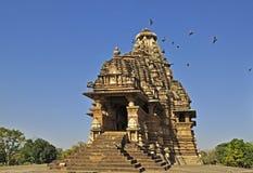 Висок Vishvanatha, Khajuraho, Индия, herit ЮНЕСКО стоковое фото rf