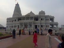 Висок Vrindavan Индия Prem Mandir индусский стоковое фото rf