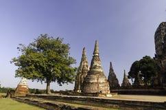 Висок Wat Chai Watthanaram стоковые фотографии rf