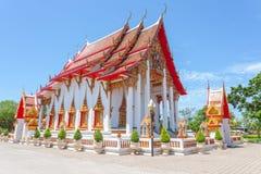 Висок Wat Chalong буддийский в Chalong, Пхукете, Таиланде Стоковое Фото