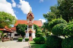 Висок Wat Chalong учтен самым красивым и самый богатый в Пхукете стоковое фото rf