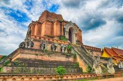 Висок Wat Chedi Luang в Chiangmai Стоковые Изображения