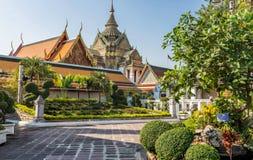 Висок Wat Pho, королевский дворец, Бангкок, Таиланд Стоковая Фотография