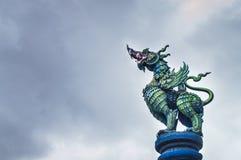 Висок Wat Rong Suea 10 Rong Suea 10 или голубой висок Стоковые Фотографии RF