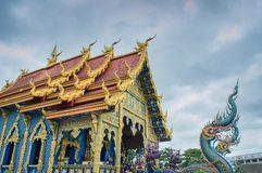 Висок Wat Rong Suea 10 Rong Suea 10 или голубой висок Стоковое фото RF