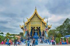 Висок Wat Rong Suea 10 Rong Suea 10 или голубой висок Стоковая Фотография