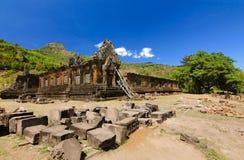 висок watphu в pakse Лаосе Стоковая Фотография