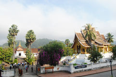 Висок Xiengthong в городе Luang Prabang на Loas Стоковые Изображения RF