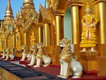 висок yangon shwedagon Стоковое Фото
