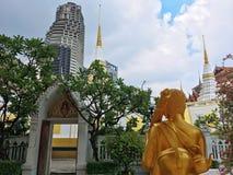 Висок Yannawa старый буддийский висок, расположенный в районе Sathon Бангкока, Таиланд Стоковое Изображение RF