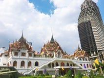 Висок Yannawa старый буддийский висок, расположенный в районе Sathon Бангкока, Таиланд Стоковые Изображения RF