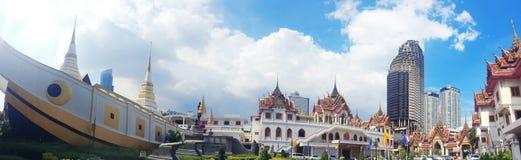 Висок Yannawa старый буддийский висок, расположенный в районе Sathon Бангкока, Таиланд Стоковое фото RF