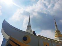 Висок Yannawa старый буддийский висок, расположенный в районе Sathon Бангкока, Таиланд Стоковая Фотография RF