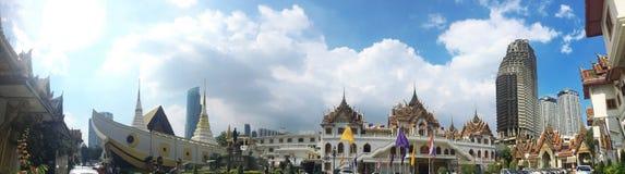 Висок Yannawa старый буддийский висок, расположенный в районе Sathon Бангкока, Таиланд Стоковые Фото