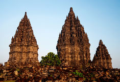 висок yogyakarta Индонесии java prambanan Стоковая Фотография