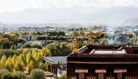 Висок Zhashilunbu, Тибет, Китай стоковое фото