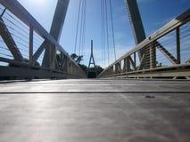 Висячий мост Айовы города Чарльза Стоковое Изображение RF
