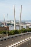 Висячий мост в Владивосток, Россия Стоковые Изображения RF