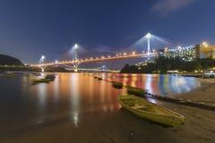 Висячий мост в Гонконге стоковое фото rf