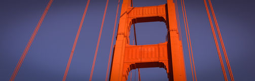 Висячий мост золотого строба Сан-Франциско CA Стоковая Фотография RF