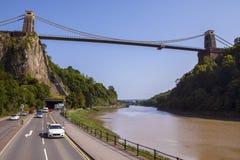 Висячий мост Клифтон в Бристоле стоковые изображения rf