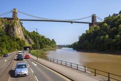Висячий мост Клифтон в Бристоле стоковое изображение