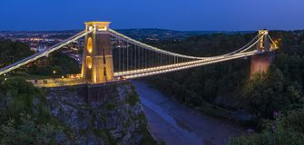 Висячий мост Клифтон в Бристоле стоковое изображение rf