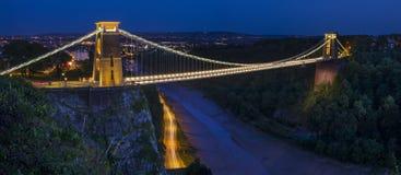 Висячий мост Клифтон в Бристоле стоковые фото