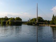 Висячий мост Крайстчёрча стоковая фотография