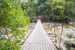 Висячий мост над потоком Стоковая Фотография RF