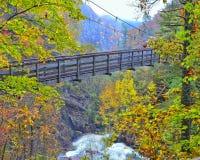 Висячий мост на ущелье Tallulah Стоковые Изображения RF