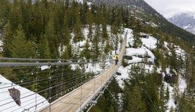 Висячий мост пилота неба Стоковые Фото