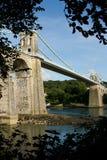 Висячий мост Menai. Стоковое фото RF