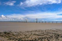 Висячий мост Severn, скрещивание пошлины между Англией и Wale Стоковая Фотография RF