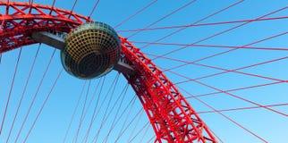 Висячий мост Zhivopisny Стоковая Фотография