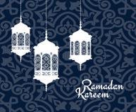 Вися арабские фонарики на праздник Рамазана Kareem Стоковая Фотография