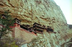 Вися висок Shanxi, Китая Стоковое Фото