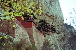Вися висок Shanxi, Китая Стоковые Изображения