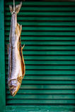 Вися высушенные рыбы Стоковая Фотография