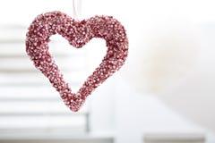 Вися декоративное сердце Стоковая Фотография RF