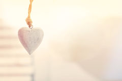 Вися декоративное сердце Стоковые Изображения
