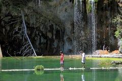 Вися озеро в каньоне Glenwood стоковые изображения