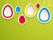 Вися пасхальные яйца. Стоковая Фотография RF