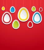 Вися пасхальные яйца. Стоковые Изображения